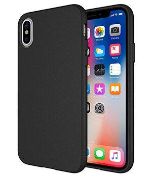"""Силиконовый чехол """"Matte texture"""" черный для iPhone XS Max"""