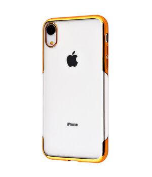 """Силиконовый чехол """"Shining"""" золотой для iPhone XR"""