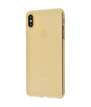 """Силиконовый чехол """"Baseus"""" Simplicity золотой для iPhone XS Max"""