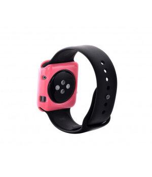 """Чехол """"Devia"""" силиконовый для Apple Watch 38mm розовый"""
