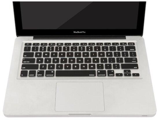 Силиконовая черная накладка на клавиатуру для MacBook