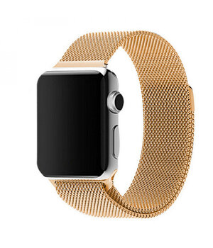Ремешок Milanese Loop Design для Apple watch 38mm / 40mm Золотой