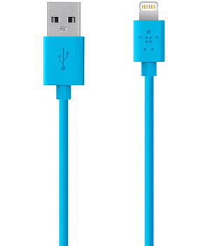 "Lightning USB кабель ""Belkin"" 1.2m синий  для iPhone/iPod/iPad"