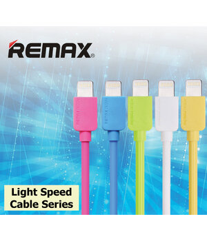 "Lightning USB кабель ""Remax Light Speed"" 1m желтый для iPhone/iPod/iPad"