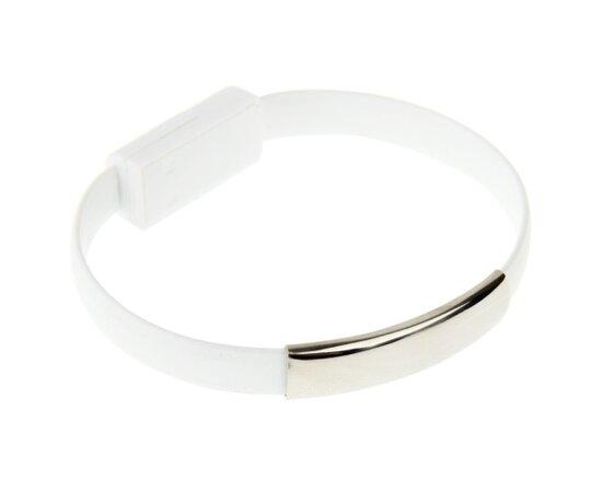 Белый кабель-браслет для iPhone/iPod/iPad