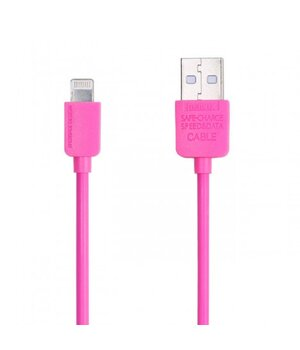 "Lightning USB кабель ""Remax Light Speed"" 1m розовый для iPhone/iPod/iPad"