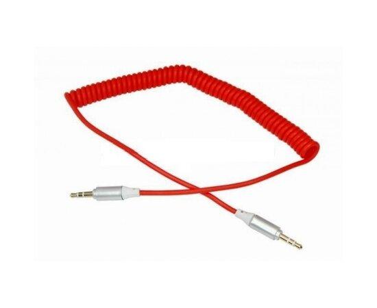 """AUX кабель-пружина 3.5mm """"Remax"""" 1m красный"""