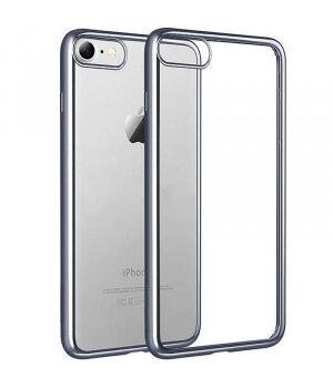 Силиконовый серый прозрачный чехол для iPhone 7/8