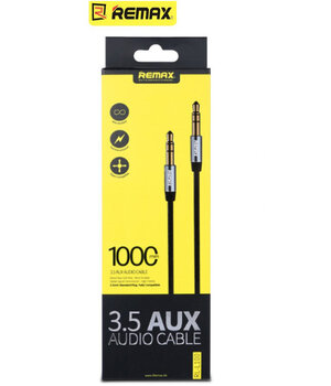 "AUX кабель 3.5mm ""Remax"" 1m черный"