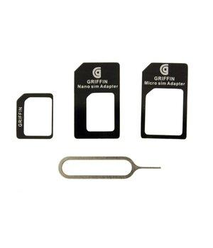 """Комплект переходников """"Griffin"""" для Nano/Micro SIM + iСкрепка"""