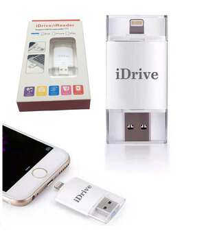 iDRIVE 16GB / Флешка для iPhone / Флеш накопитель для iPad / Lightning + USB + microUSB