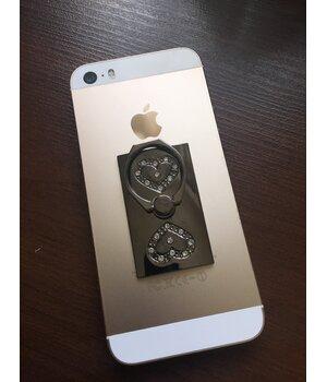 """Кольцо-держатель """"Сердечки"""" черное для iPhone"""