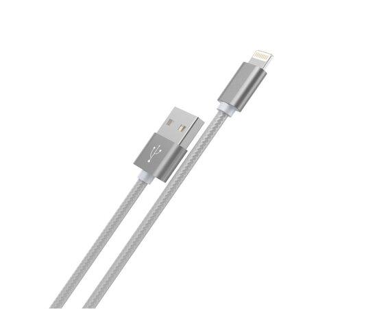 "Lightning USB кабель ""Hoco"" x2 серый 1m для iPhone/iPod/iPad"
