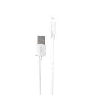 "Lightning USB кабель ""Hoco"" x1 белый 1m для iPhone/iPod/iPad"