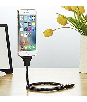 "Lightning USB кабель-держатель ""Flexible"" Rose Gold 0.5m для iPhone/iPod/iPad"