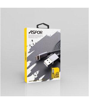 "Lightning USB кабель ""Aspor"" A132 1.2m для iPhone/iPod/iPad"