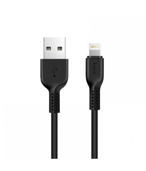 "Lightning USB кабель ""Hoco"" x20 черный 1m для iPhone/iPod/iPad"