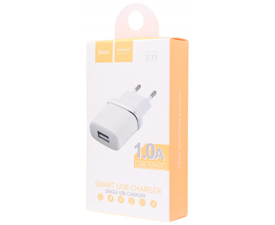 СЗУ Hoco C11 USB Charger 1A Белый