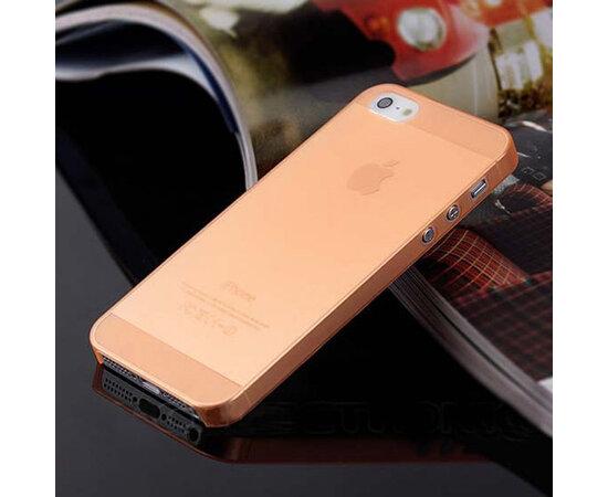 """Ультратонкий чехол """"Ultrathin 0.3mm"""" оранжевый для iPhone 5/5S/SE"""