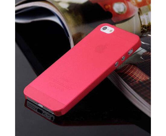 """Ультратонкий чехол """"Ultrathin 0.3mm"""" красный для iPhone 5/5S/SE"""