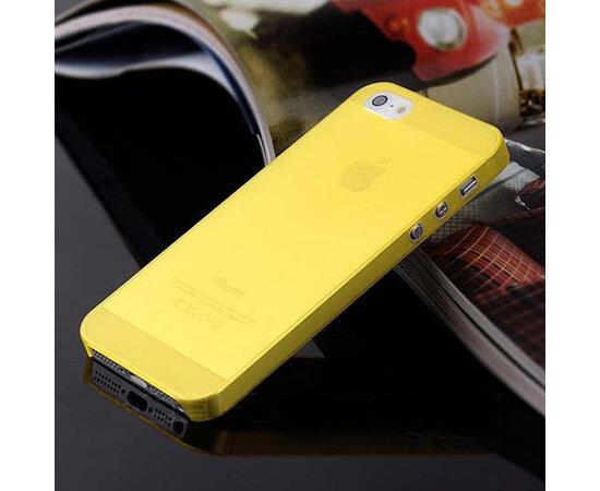 "Ультратонкий чехол ""Ultrathin 0.3mm"" желтый для iPhone 5/5S/SE"