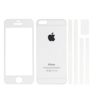 Переднее+заднее белое стекло для iPhone 5/5S/SE