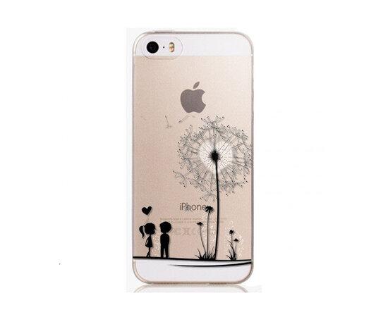 """Чехол """"Одуванчик с сердцем"""" силиконовый для iPhone 5/5S/SE"""