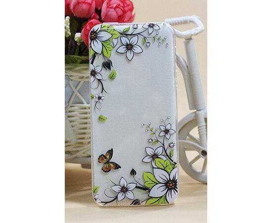 """Чехол """"Yellow butterfly"""" силиконовый для iPhone 5/5S/SE"""