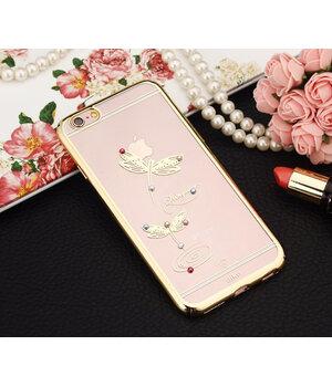 """Чехол aikn """"Стрекоза"""" пластиковый для iPhone 6/6S золотой"""