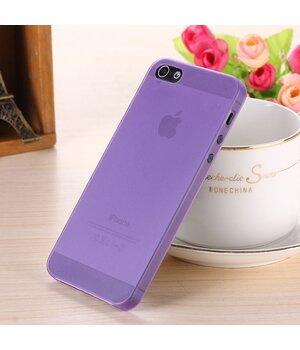 """Ультратонкий чехол """"Ultrathin 0.3mm"""" фиолетовый для iPhone 4/4S"""