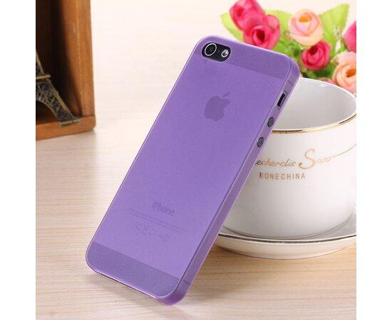 """Ультратонкий чехол """"Ultrathin 0.3mm"""" фиолетовый для iPhone 5C"""