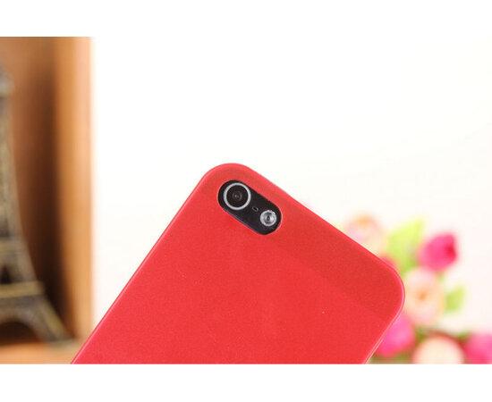 """Ультратонкий чехол """"Ultrathin 0.3mm"""" красный для iPhone 5C"""