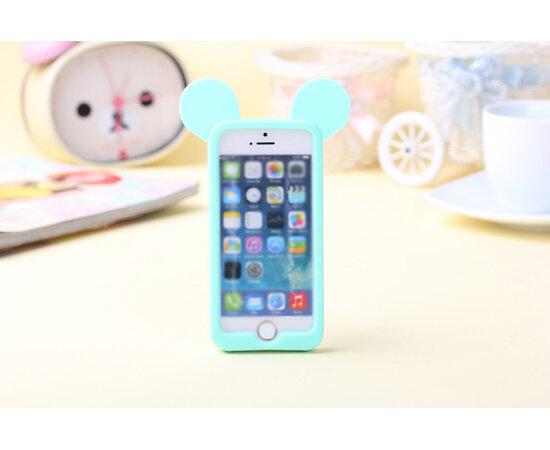 """Резиновый бампер """"Микки Маус"""" мятный для iPhone 5/5S/SE"""