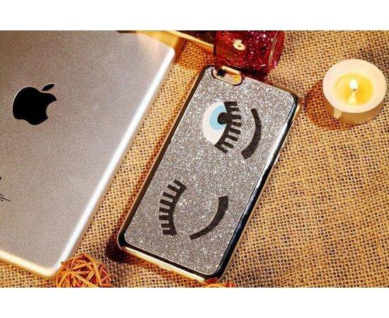 """Чехол """"Глазки"""" пластиковый для iPhone 6/6S серебро"""