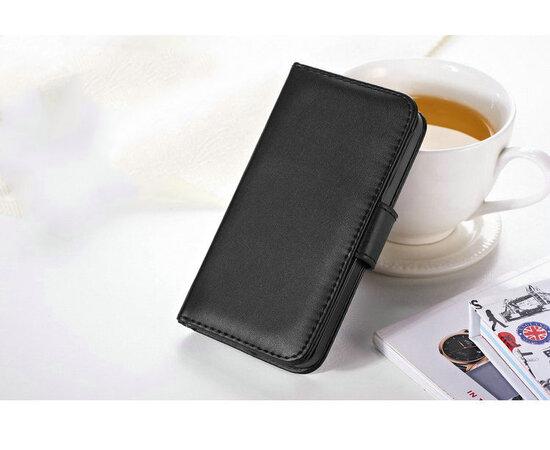 """Черный кожаный чехол-кошелек """"Стиль"""" для iPhone 5/5S/SE"""
