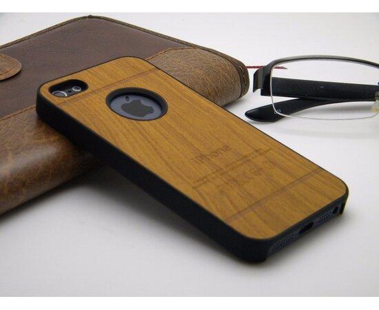 """Чехол """"Дерево"""" пластиковый для iPhone 5/5S/SE коричневый"""