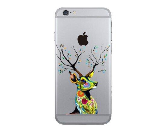 """Чехол """"Олень"""" силиконовый для iPhone 5/5S/SE"""