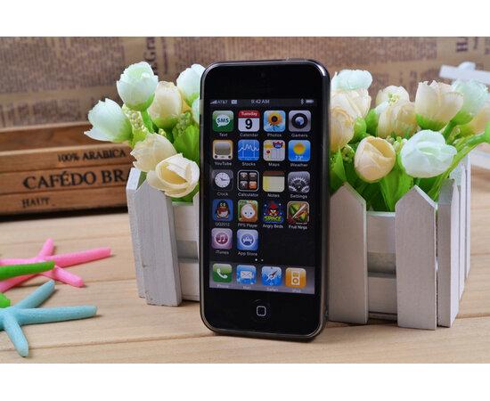 Силиконовый черный матовый чехол с заглушками для iPhone 5/5S/SE