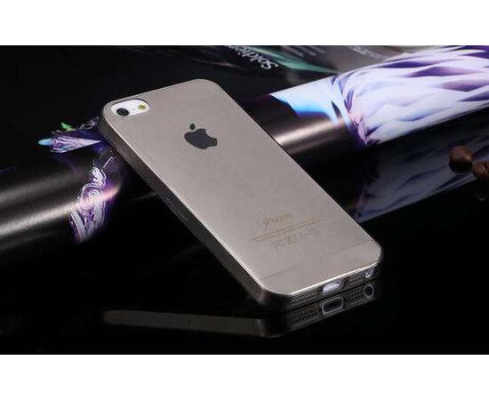 Силиконовый черный глянцевый чехол для iPhone 5/5S/SE