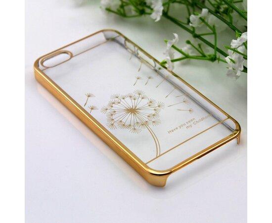 """Чехол """"Одуванчик"""" пластиковый для iPhone 5/5S/SE золотой"""