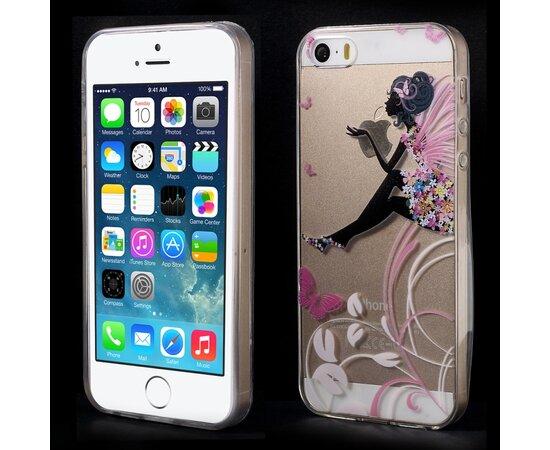 """Чехол """"Мечтательная фея"""" силиконовый для iPhone 5/5S/SE"""