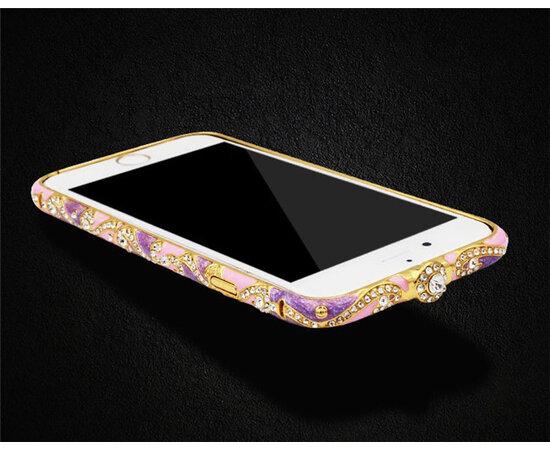 Разноцветный алюминиевый бампер со стразами бледный для iPhone 5/5S/SE