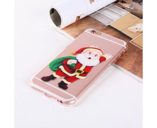 """Чехол """"Santa Claus"""" силиконовый для iPhone 5/5S/SE с мешком"""