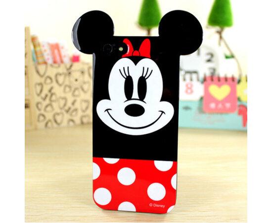 """Резиновый 3D чехол """"Минни Маус"""" для iPhone 5/5S/SE"""