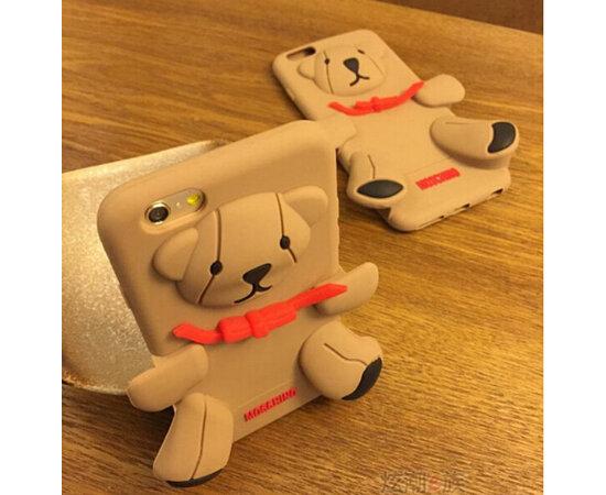 """Резиновый 3D чехол """"Медведь MOSCHINO"""" для iPhone 5/5S/SE"""