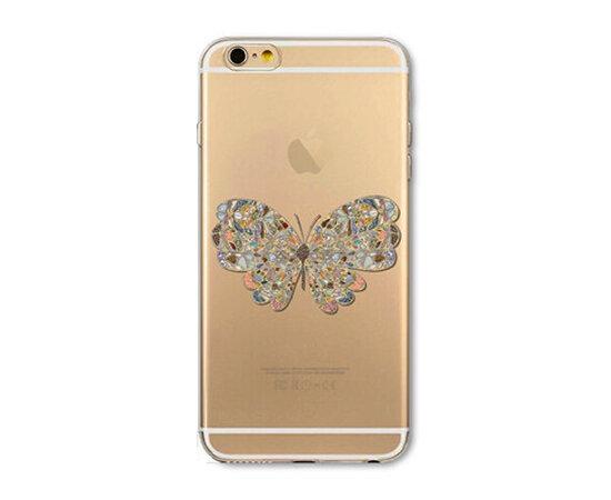 """Чехол """"Бабочка"""" силиконовый для iPhone 5/5S/SE"""