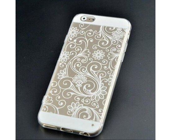 """Чехол """"Узор"""" силиконовый для iPhone 5/5S/SE белый"""