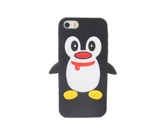 """Резиновый 3D чехол """"Пингвин"""" для iPhone 5/5S/SE"""