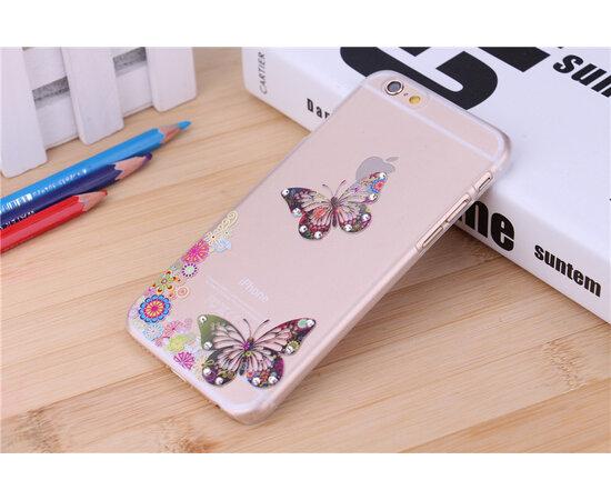 """Чехол """"Бабочки"""" пластиковый для iPhone 6/6S со стразами"""
