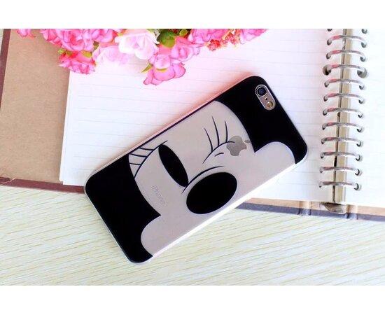 """Чехол """"Минни Маус"""" силиконовый для iPhone 6/6S черно-белый"""